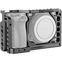 Camera Cage for Sony A6500 with 1/4 and 3/8 Threaded Holes Cold Shoe Base for Sony Alpha A6500/ ILCE 6500 4K Digital Mirrorless Cameras