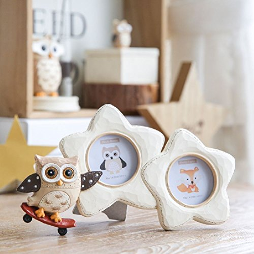 1 Piece Cartoon Animal Picture Frame Album Decoration Accessories Wall Hanging by Inteeon home series