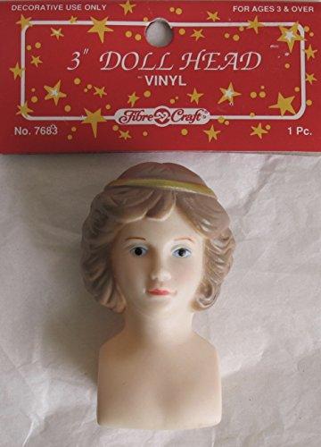 FIBRE Craft PACK of 1 Vinyl 'ANGEL' DOLL HEAD 3