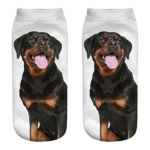 Unisex Cute Socks Hosamtel Animal 3D Printing Anklet Socks Cartoon Socks Sports Socks For Man Women Girl Boy Couple Lovers (1-D)