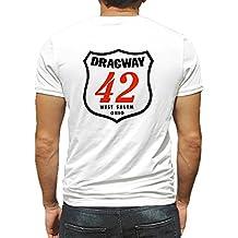 Dragway 42 West Salem Ohio Hot Rod Rat Nostalgia Drag Race Racing NHRA White Short Sleeve Shirt