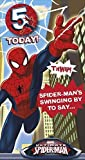 Ultimate Spiderman Birthday Card - Age 5 With Badge
