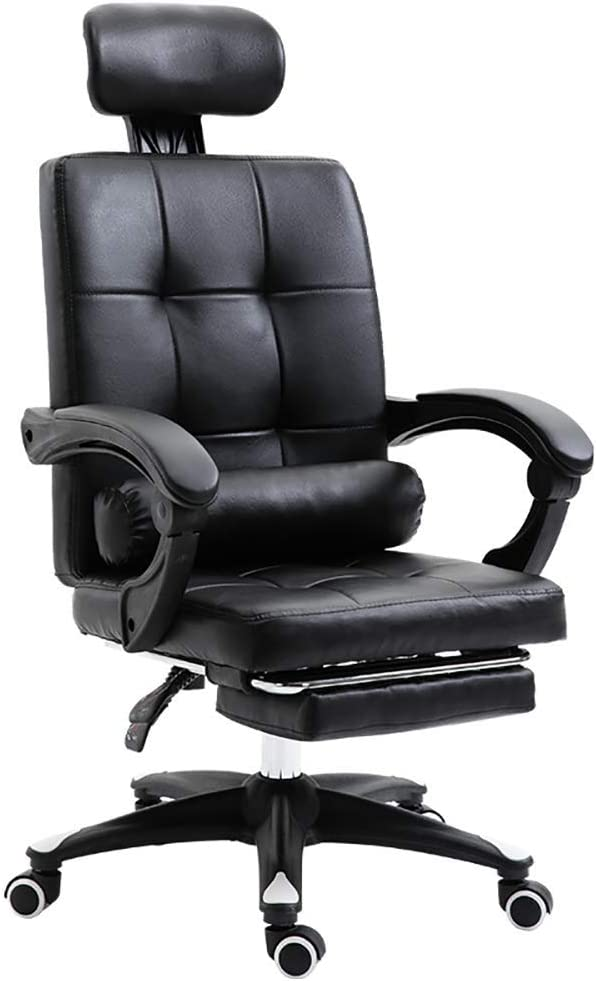 Xervg Minimalist Computer Chair Comfortable Home Elevator Rotating with Foot Lift Swivel Chair