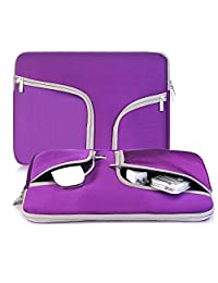 egiant 13.3 Inch Laptop Chromebook Case Sleeve ,Waterproof Neoprene Zipper Briefcase Carrying Cases Bag for Laptops Notebook Computers iPad Pro Tablets ,Surface Book, Macbook Air 13/Pro 13 (Purple)