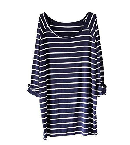 Navy Blue Striped Shirt: Amazon.com