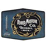 Utopia Alley Ford Motor Co Embossed Tin Thermometer Sign Garage Decor 14 X 10
