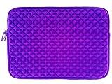 AZ-Cover 11-Inch Bag Simplicity & Stylish Diamond Foam Shock-Resistant Neoprene Sleeve (Purple) For SAMSUNG ATIV Smart PC Pro 700T XE700T1C-A04US 11.6