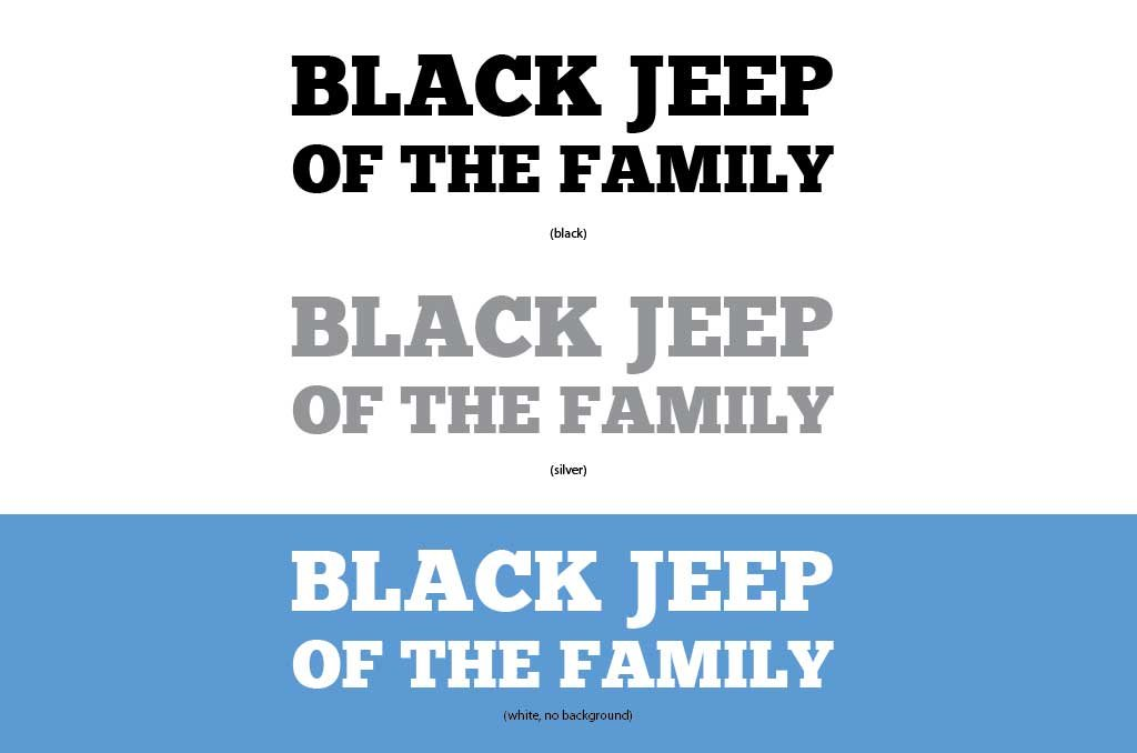 Jeep Offroad Truck and Car Single Decal BLACK JEEP OF THE FAMILY 3 Colors Black