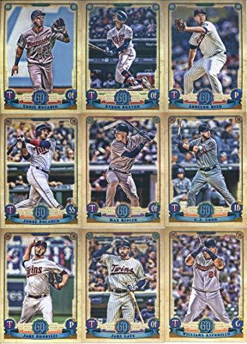2019 Gypsy Queen Baseball Minnesota Twins Team Set of 11 Cards: Eddie Rosario(#37), Addison Reed(#58), Byron Buxton(#78), C.J. Cron(#86), Max Kepler(#107), Jorge Polanco(#113), Willians Astudillo(#152), Jake Cave(#156), Jake Odorizzi(#164), Tyler Austin(#223), Jose Berrios(#238)