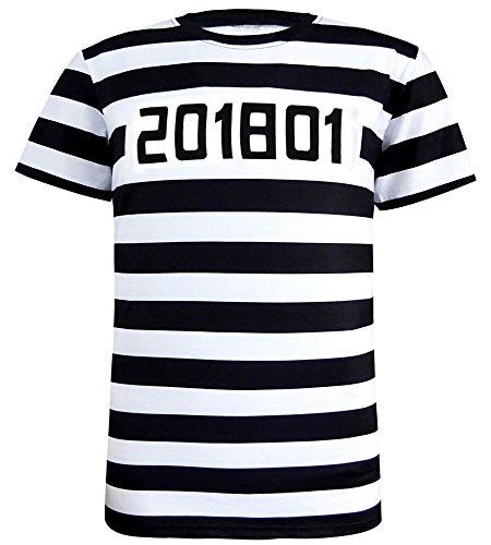 Funny World Men's Prisoner Costume T-Shirts (XXL) ()