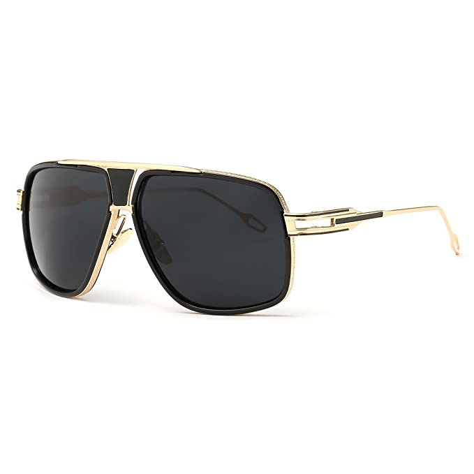 36236bfd3cd AEVOGUE Sunglasses For Men Goggle Alloy Frame Brand Designer AE0336  (Gold Black