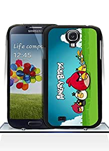 Cute Funda Case For Galaxy S4, Dangry Birds Logo Game High Impact Slim Fit Unique Special Design Tough Hard Protective Funda Case For Samsung Galaxy S4 i9500
