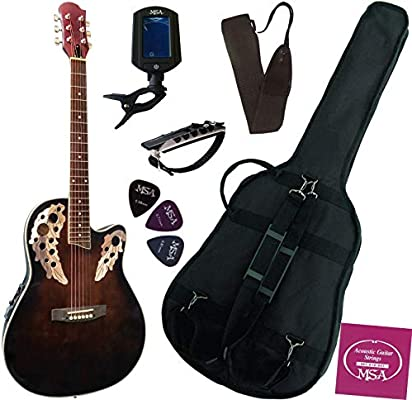 Pack de guitarra eléctrica - acústica, 6 accesorios, chocolate ...