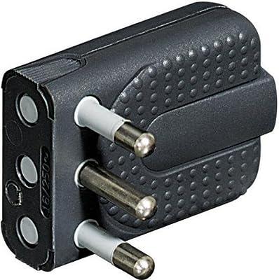 Adaptador para Enchufe bticino S3625GE Adaptador de Enchufe el/éctrico Antracita 16 A, Antracita, De pl/ástico, Male Connector//Female Connector