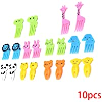 Morza 10pcs de la Fruta Animal Tenedor Mini