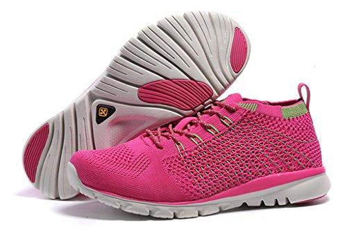 Senximaoyi® Fly Line Calzado Deportivo Calzado Deportivo Ligero, Transpirable Sneakers Pink