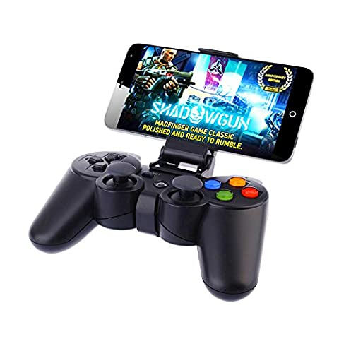 Geekercity Portable Wireless Bluetooth Game Gaming Controller Joystick Gamepad for Android Samsung Galaxy S6 S7 S6 Edge S5 S4 S3 Note 2 3 4 (Samsung Android Docking Station)