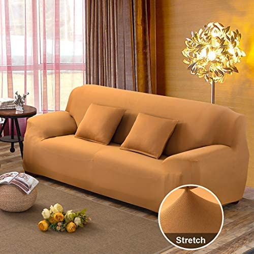 JQinHome Sofa Cover High Stretch Couch Lounge Covers for 3 Cushion Couch, Polyester Spandex Sofa Slipcover Furniture Protector for Dogs, Includes 2 Free Cushion Cases - Sofa(3 Seater)