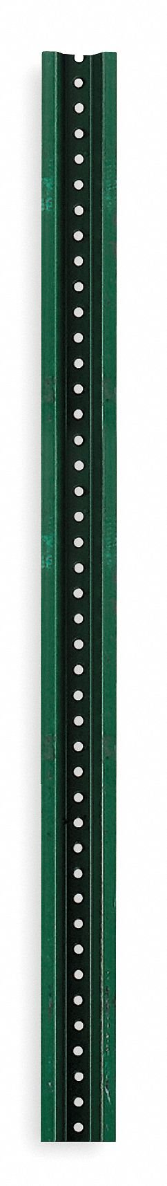 Tapco 054-00006 Steel U-Channel Sign Post, 12' Length, Green