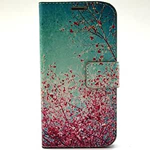 ZL Cherry Tree Pattern PU Leather with Case and Card Slot for Samsung S5 I9600
