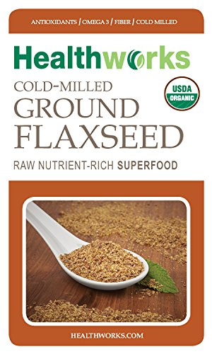 Healthworks Flaxseed Cold-Milled Ground Raw Organic, 3lb