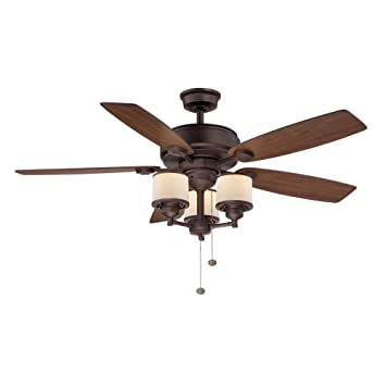 Hampton bay waterton ii 52 in oil rubbed bronze ceiling fan oil rubbed bronze ceiling fan amazon aloadofball Choice Image