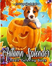 Autumn Splendor Coloring Book: An Adult Coloring Book Featuring Fun and Relaxing Autumn Scenes with Pumpkins, Flowers, Cute Animals and Much More!