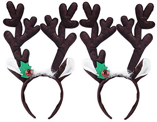 Fascigirl 2 Pack Reindeer Antlers Headband Headwear for Holiday Party by Fascigirl