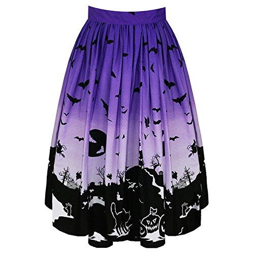 Ombre Viola Vintage Gatto 1950s Bunny Pipistrello Hell Gonna Ritrovo Zucca Halloween FHIUq