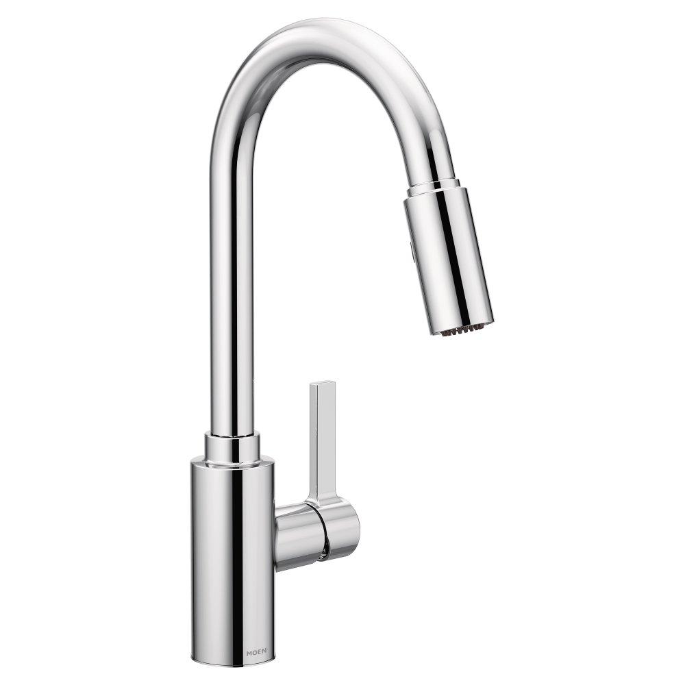 Moen 7882 Genta One-Handle High Arc Pulldown Kitchen Faucet Featuring Reflex, Chrome