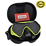 Rising Goods Scuba Snorkeling Diving Mask with Protective Case - Anti-Fog Glass - Leak-Proof Silicone Mask