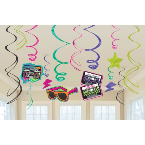 80s Birthday - 80's Value Pack Party Swirl Decorating