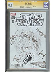 STAR WARS #1 CGC 9.8 200:1 ROSS SKETCH COVER SIGNED STAN LEE 1ST DAY RELEASE