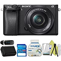 Sony Alpha a6300 Mirrorless Digital Camera with 16-50mm Lens + Starter Accessory Bundle - International Version Advantages Review Image