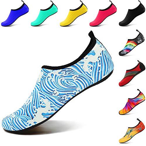 Vifuur Hommes De Femmes Nus Aqua Enfants on Pour Chaussettes Spray Slip Rapide Chaussures À Pieds Séchage Yoga Nautique Sport Bleu pqxnWpaZAr