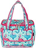Tackle & Tides Flamingo Trellis 16 Can Cooler Tote One Size Aqua Blue//Pink