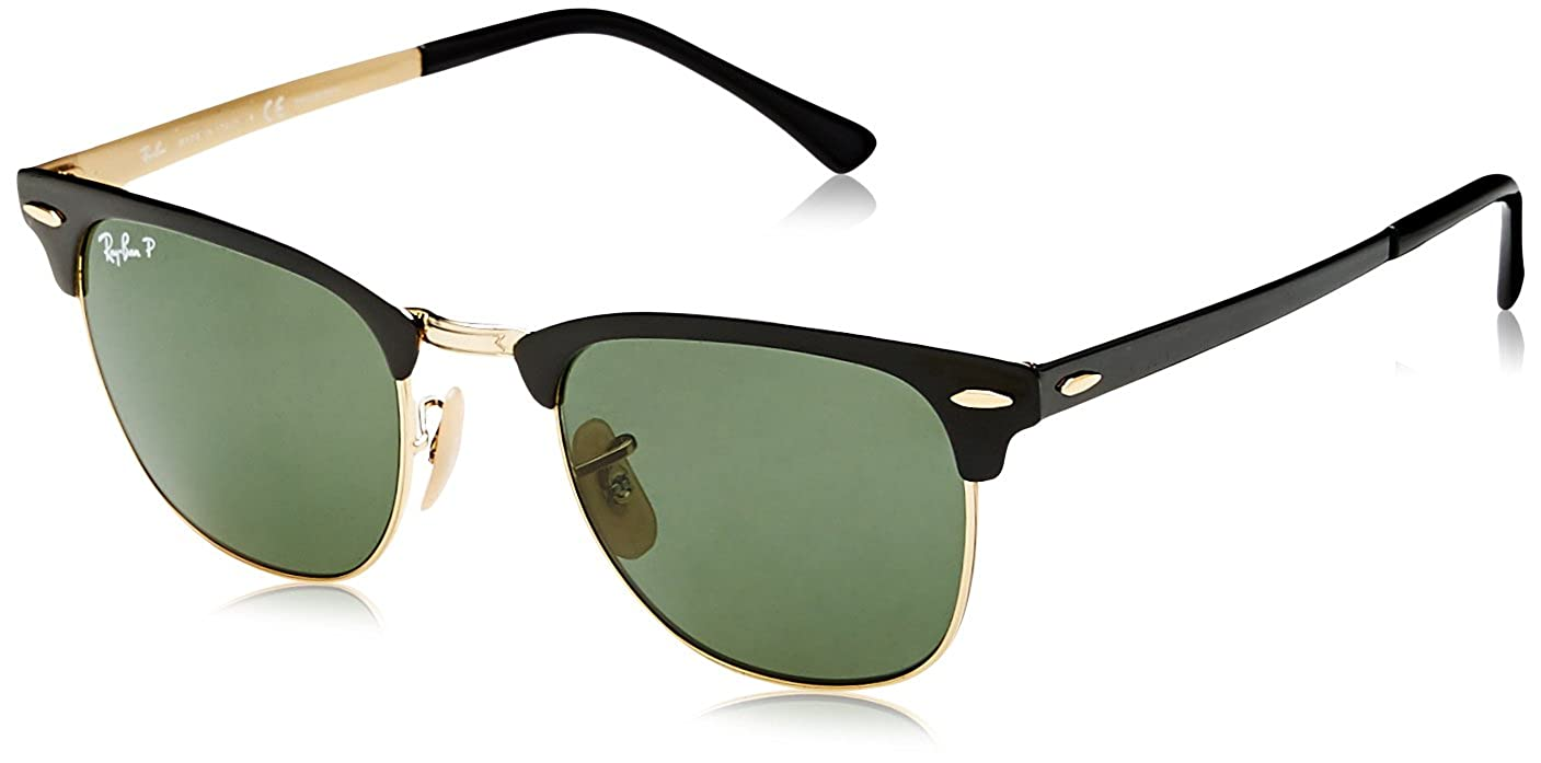 af98bd8dbf Amazon.com  Ray-Ban Metal Unisex Polarized Square Sunglasses
