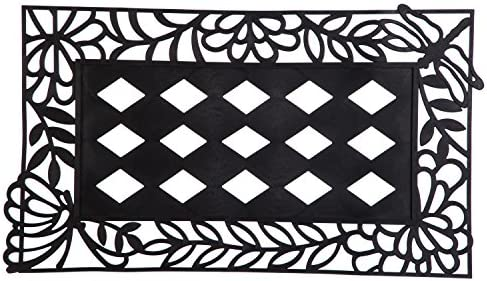 Evergreen Flag Beautiful Cut Out Garden Friends Durable Sassafras Welcome Mat Tray – 32 x 20 Inches Fade and Weather Resistant Outdoor Doormat Tray for Homes, Yards and Gardens