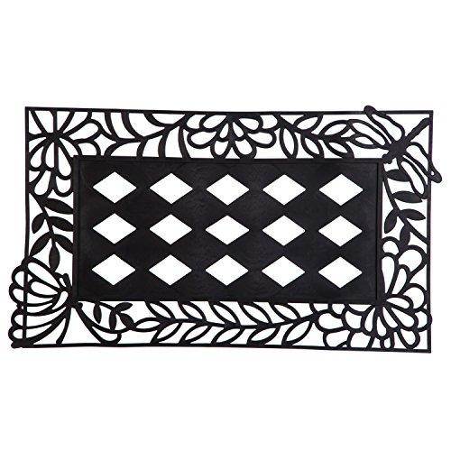 "Evergreen Flag Spring Garden Friends Decorative Rubber and Polyester Sassafras Mat Tray - Door Mat Sold Separately - 30""W x 18"" H"