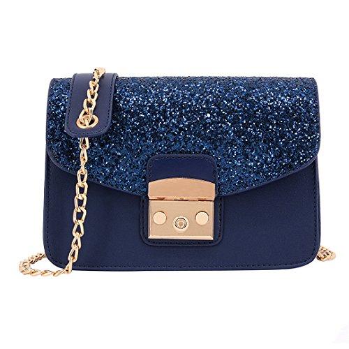 Novias Boutique - Bolso al hombro para mujer azul azul talla única azul