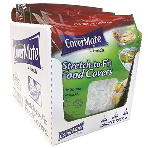CoverMate Stretch-To-Fit Food Covers, 48 Total Covers $15.25