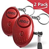 Personal Alarm, JDDZ 140 db Safe Siren Song Emergency Self Defense Protection Device Anti-Rape/Anti-Theft Security With Mini LED Flashlight for Women, Kids and Elderly 2 Pack (Red)