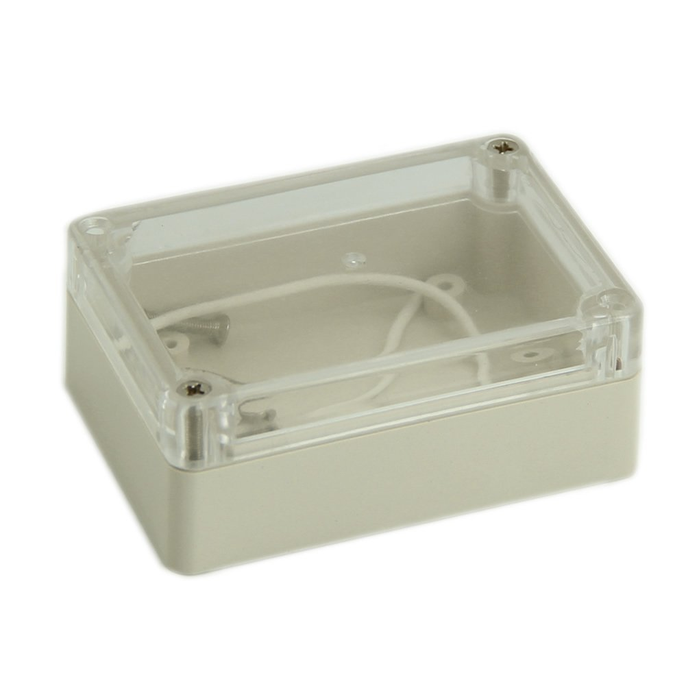 SODIAL(R) 85x58x33mm Waterproof Clear Cover Plastic Electronic Cable Project Box Enclosure Case 045969