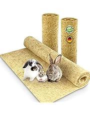 Gnagarmatta 100 % hampa 100 x 40 cm 5 mm tjock förpackning med 3 hampafatta för alla typer av små djur hampamatta gnagarmatta