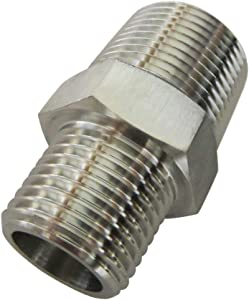 """Metalwork Stainless Steel 316 Forged Pipe Fitting, Reducing Hex Nipple, 3/4"""" NPT Male x 1/2"""" NPT Male, High Pressure 1Pc"""