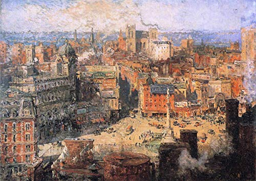 (Colin Campbell Cooper Columbus Circle 1909 Allentown Art Museum of Lehigh Valley Allentown, PA 30