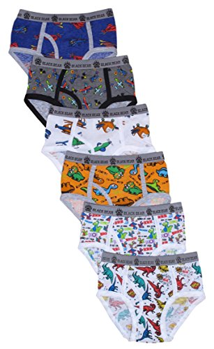 'Black Bear Boys\' Underwear Briefs (Pack of 6) (Toddler (2T/3T), Dinosaurs/Airplanes)' Boys Imported