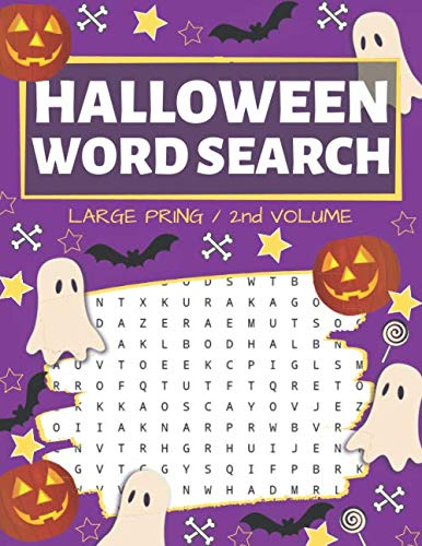 Halloween Candy 2019 (Halloween Word Search: Puzzle Book Large Print - 80 Halloween Puzzles (Edition/Volume)