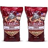 Pit Boss (2 Pack) Fruit Blend Hardwood BBQ Grilling and Smoking Pellets - 30 lb Resealable Bag