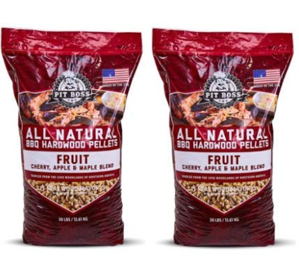 Pit Boss (2 Pack) Fruit Blend Hardwood BBQ Grilling and Smoking Pellets - 30 lb Resealable Bag by Pit Boss